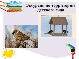 Эксурсия по территории детского сада