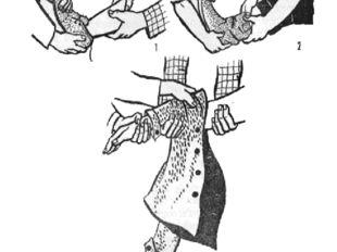 Рис. 3. Приемы снятия обуви и одежды