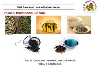 ГЛАВА 3. Изготовление чая. Чай. Неизвестное об известном . Рис.12. Сорта чая: