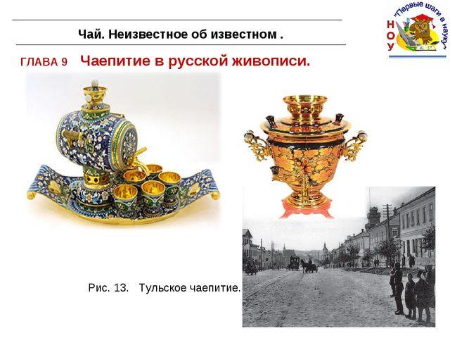 ГЛАВА 9 Чаепитие в русской живописи. Чай. Неизвестное об известном . Рис. 13....