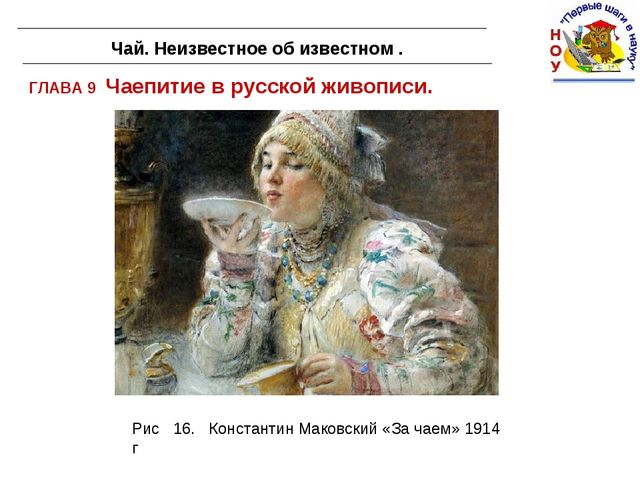ГЛАВА 9 Чаепитие в русской живописи. Чай. Неизвестное об известном . . Рис 16...