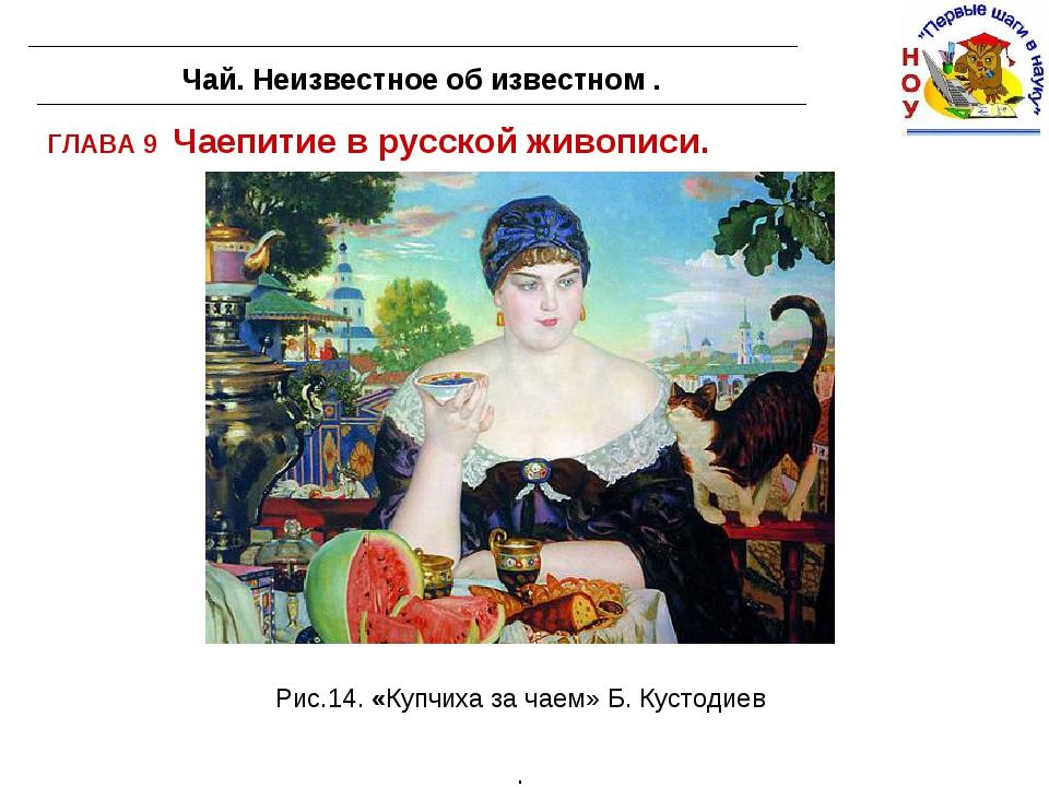 ГЛАВА 9 Чаепитие в русской живописи. Чай. Неизвестное об известном . Рис.14....