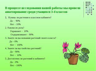 В процессе исследования нашей работы мы провели анкетирование среди учащихся