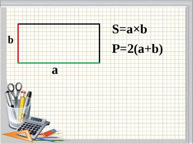 b a S=a×b P=2(a+b)
