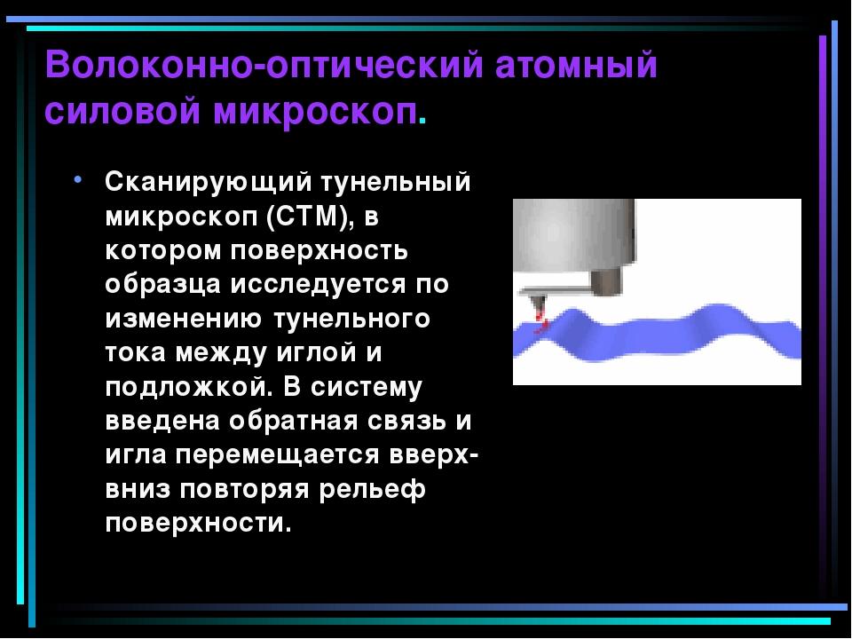Волоконно-оптический атомный силовой микроскоп. Сканирующий тунельный микроск...