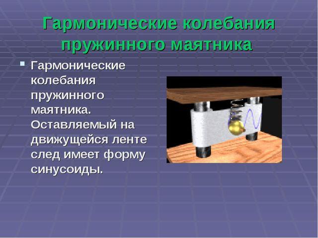 Гармонические колебания пружинного маятника Гармонические колебания пружинног...