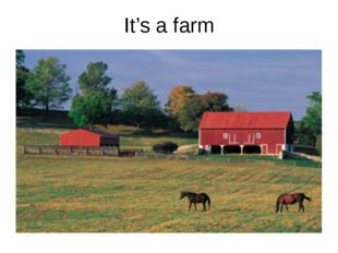 It's a farm