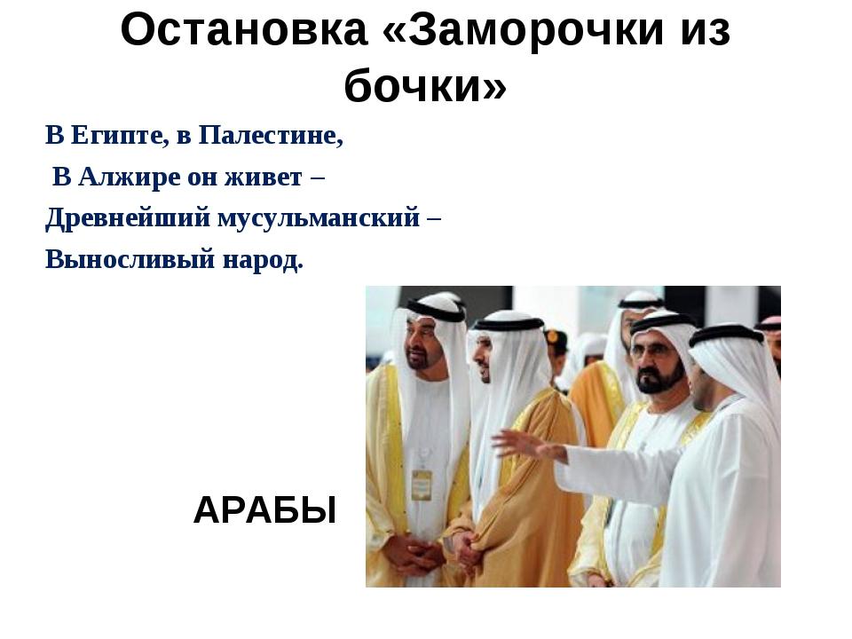 Остановка «Заморочки из бочки» В Египте, в Палестине, В Алжире он живет – Др...