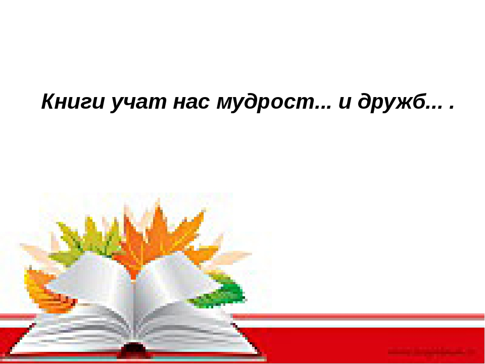 Книги учат нас мудрост... и дружб... .