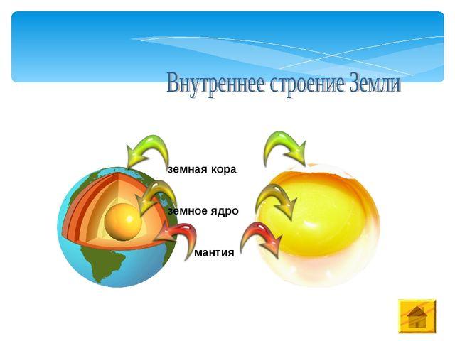 земное ядро мантия земная кора