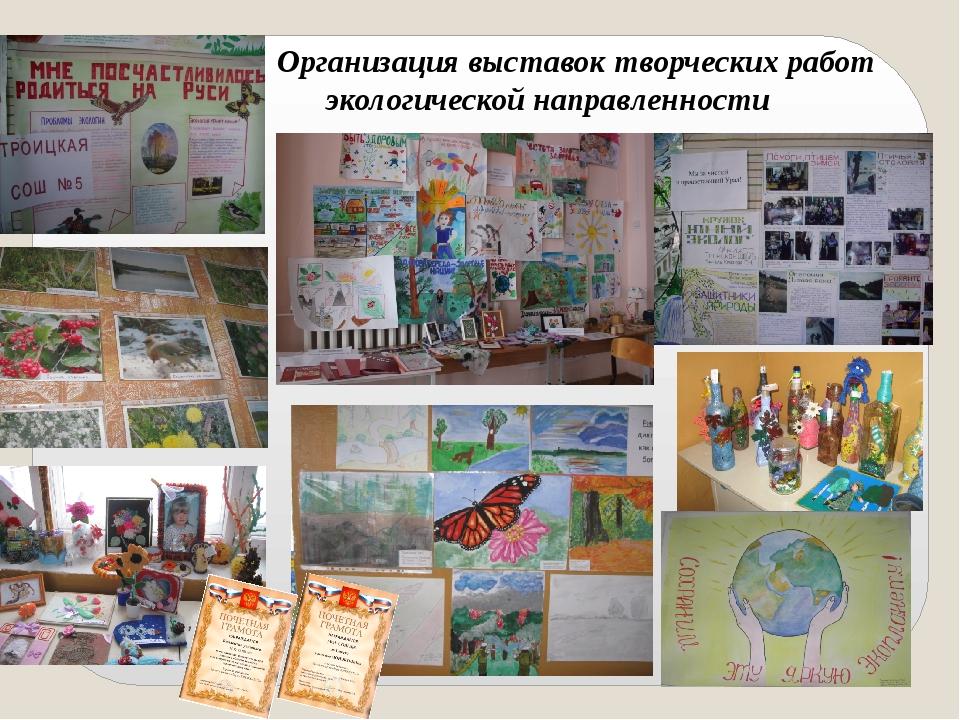 Организация выставок творческих работ экологической направленности