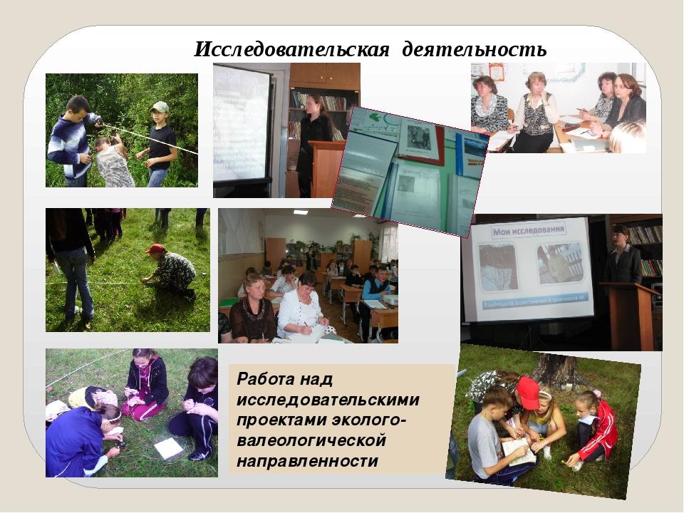 Исследовательская деятельность Работа над исследовательскими проектами эколог...