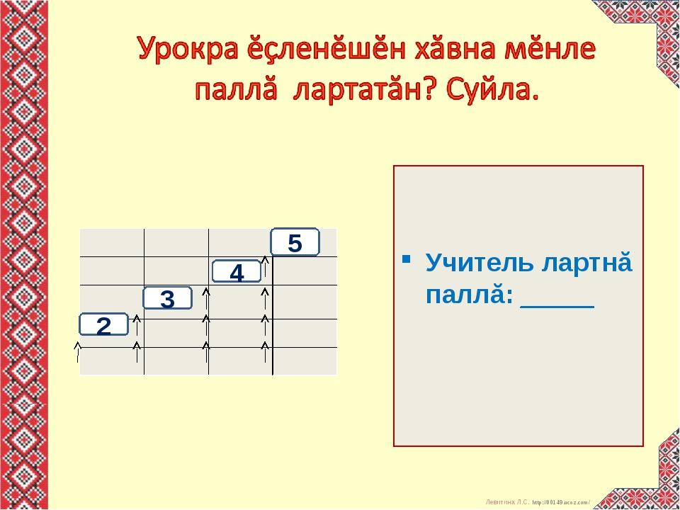 Учитель лартнă паллă: _____ 5 4 3 2      Левитина Л.С. http:/...