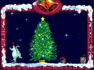 Christmas Tree Bells gift People decorate fir-trees with tinsels, baubles and