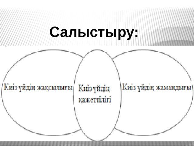 Салыстыру: