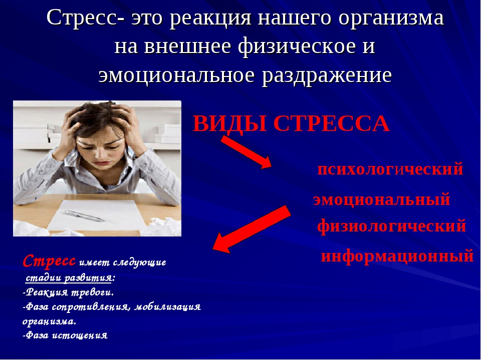 Стресс- это реакция нашего организма на внешнее физическое и эмоциональное ра...