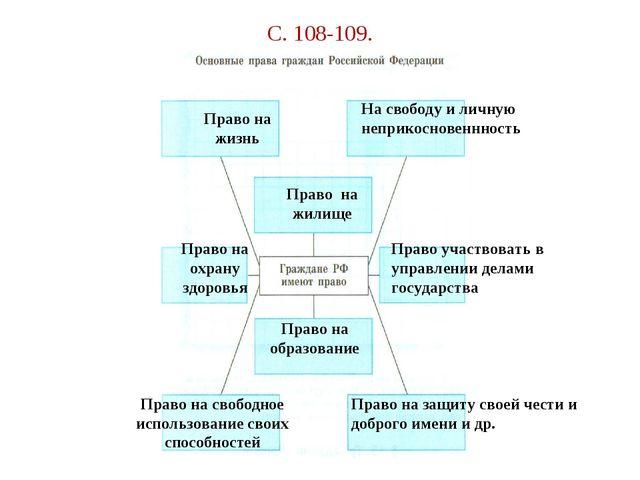 С. 108-109. Право на жизнь На свободу и личную неприкосновеннность Право на ж...