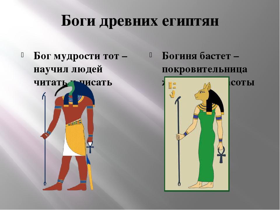 Боги древних египтян Бог мудрости тот – научил людей читать и писать Богиня б...