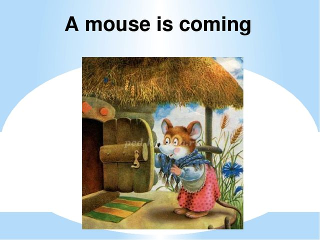 A mouse is coming
