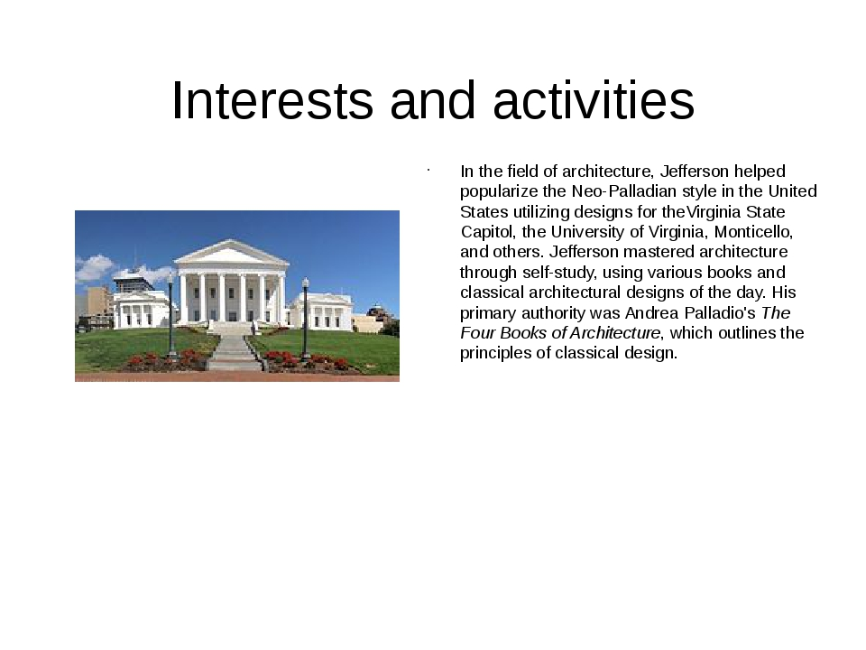 "an analysis of the topic of the architecture by thomas jefferson Thomas paine and thomas jefferson he dubbed his ""essay in architecture"" monticello thus jefferson's analysis of thomas jefferson's from."
