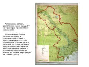 Астраханская область расположена на юго-западе РФ на территории Прикаспийско