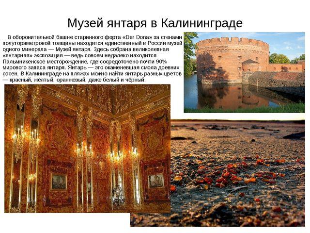 Музей янтаря в Калининграде В оборонительной башне старинного форта «Der Dona...