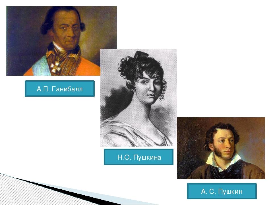 А.П. Ганибалл Н.О. Пушкина А. С. Пушкин