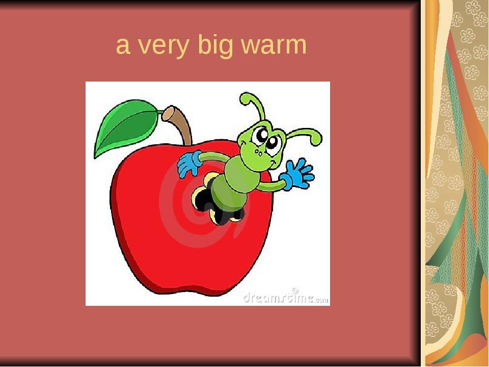 a very big warm