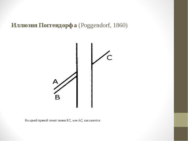 Иллюзия Поггендорфа (Poggendorf, 1860)