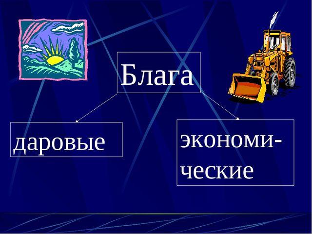 Блага даровые экономи-ческие