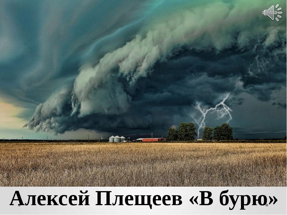 Алексей Плещеев «В бурю»
