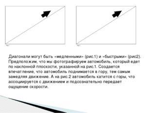 Диагонали могут быть «медленными» (рис.1) и «быстрыми» (рис2). Предположим, ч