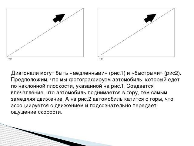 Диагонали могут быть «медленными» (рис.1) и «быстрыми» (рис2). Предположим, ч...