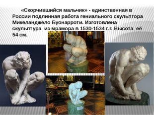 «Скорчившийся мальчик» - единственная в России подлинная работа гениального