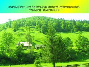 Зелёный цвет – это гибкость ума, упорство, самоуверенность. упрямство, самоув