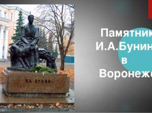 Памятник И.А.Бунину в Воронеже