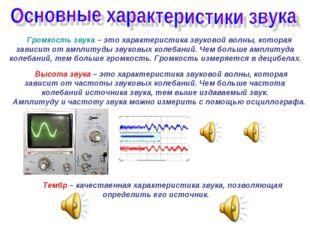 Громкость звука – это характеристика звуковой волны, которая зависит от ампл