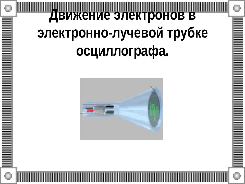 Движение электронов в электронно-лучевой трубке осциллографа.