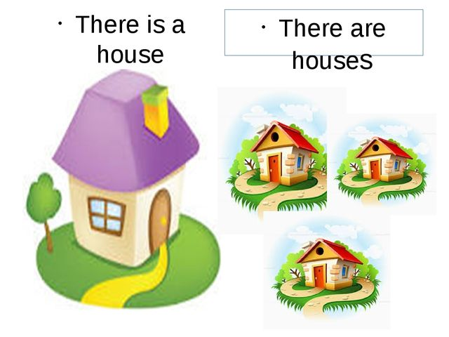 There is a house There are houses