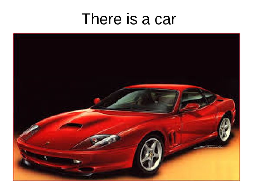 There is a car