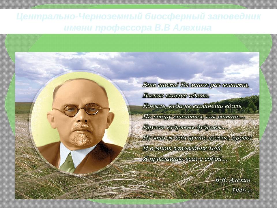 Центрально-Черноземный биосферный заповедник имени профессора В.В Алехина.