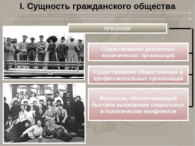 ПРИЗНАКИ Существование различных политических организаций Существование общес...
