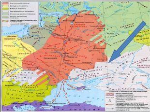 В конце IX в. в степи бассейна Северского Донца ворвалась печенежская орда, п