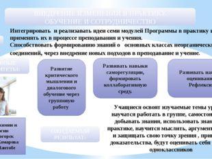 Учитель химии и биологии ОО г. Степногорск СШ им. В. Комарова п. Шантобе Инте