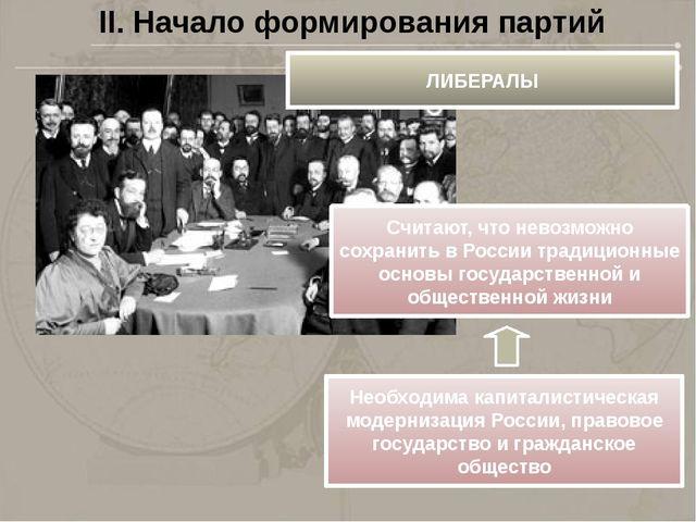 Формирование партий связано с. распространением норм