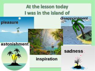 sadness inspiration disappointment pleasure astonishment