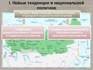 I. Новые тенденции в национальной политике ПРОЦЕСС МОДЕРНИЗАЦИИ ТРЕБОВАЛ НОВЫ