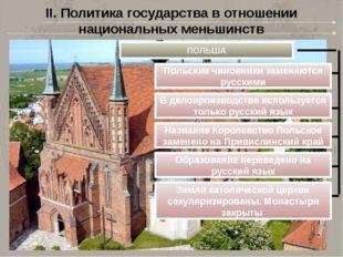 II. Политика государства в отношении национальных меньшинств ПОЛЬША Польские