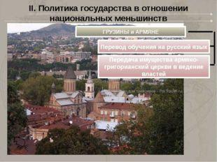 II. Политика государства в отношении национальных меньшинств ГРУЗИНЫ и АРМЯНЕ