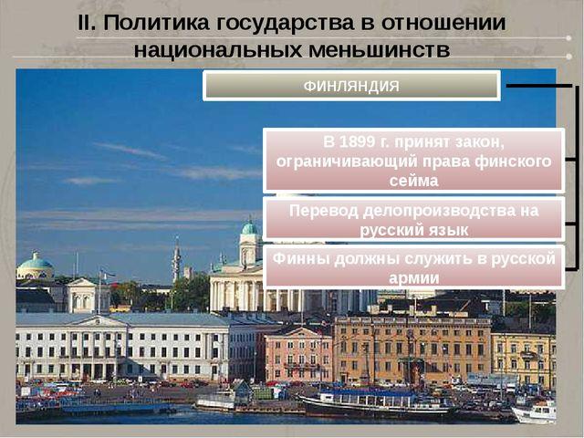 II. Политика государства в отношении национальных меньшинств ФИНЛЯНДИЯ В 1899...
